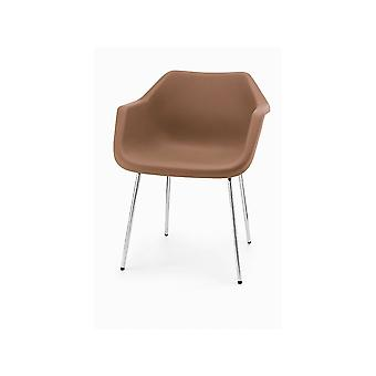 Hille Brown Robin Day Plastic Armchair