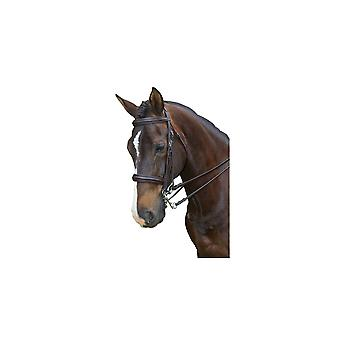 Collegiate Padded Hoofddeksel Raised Weymouth Bridle - Zwart