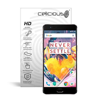 Celicious Vivid Invisible Glossy HD Screen Protector Film Compatible with OnePlus 3T [Pack of 2]