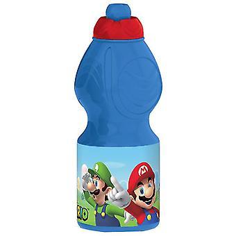 Nintendo Super Mario Luigi Yoshi Water Bottle Blue