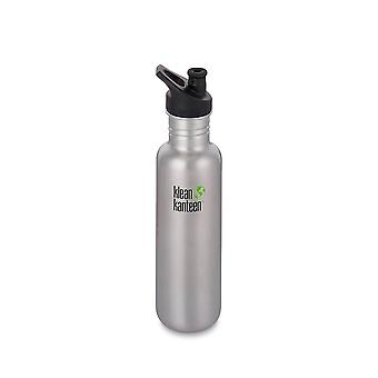 Klean Kanteen 800ml Classic Bottle Brushed Stainless Steel