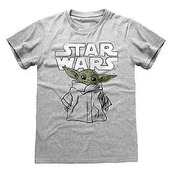Mandalorian Baby Yoda Dziecko Szkic Oficjalny T-Shirt