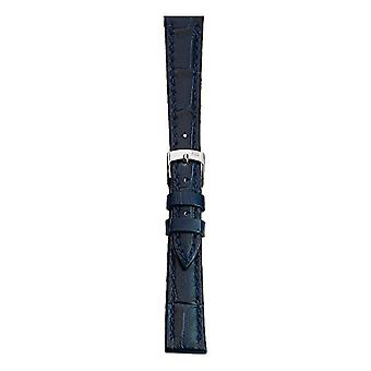 Morellato black leather strap unisex blue bubbles 24 mm A01X2269480061CR24