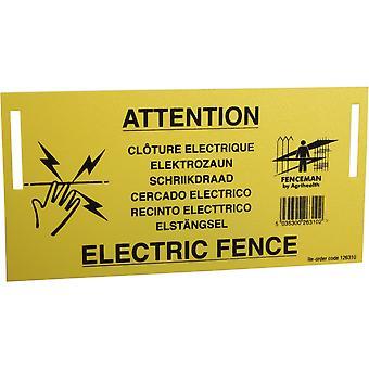 Fenceman Electric Fence Waarschuwingsbord