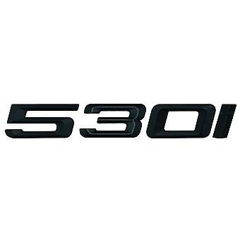 Matt Black BMW 530i Car Model Rear Boot Number Letter Sticker Decal Badge Emblem For 5 Series E93 E60 E61 F10 F11 F07 F18 G30 G31 G38