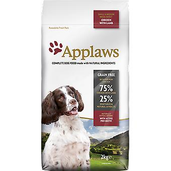 Applaws Food for Adult Dogs of Medium Breed and Small Chicken with Lamb