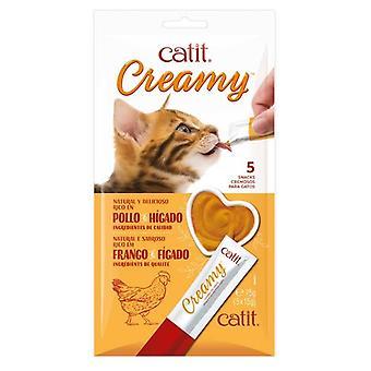 Catit Creamy Snack Liquido Pollo y Higado para Gatos