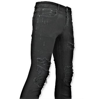 Ripped Jeans - Worn Jeans - D3080 - Black