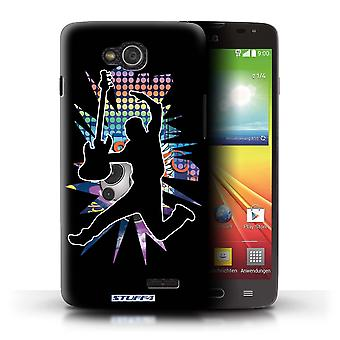 STUFF4 Case/Cover for LG L90 Dual/D410/Leap/Jump Black/Rock Star Pose