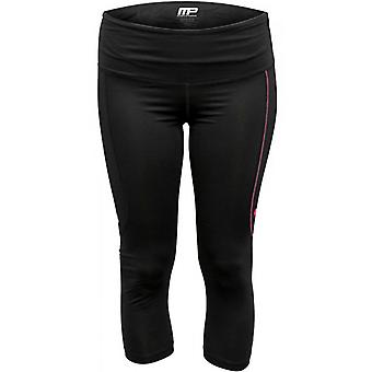 MusclePharm Women's Virus Compression Pro Crop Pants - Black/Pink