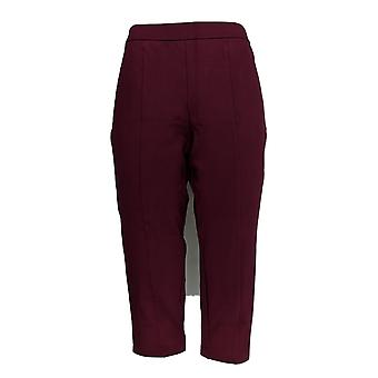 Joan Rivers Classics Collection Women's Petite Pants Burg Red A300847
