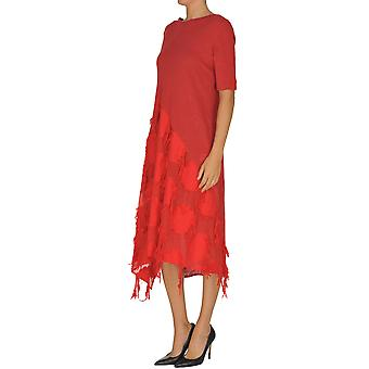 Yohji Yamamoto Ezgl123007 Women's Red Cotton Dress