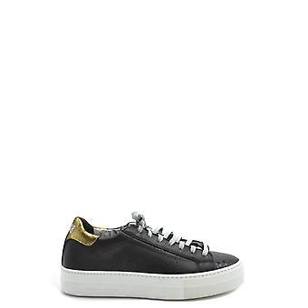 P448 Ezbc283008 Women's Black Leather Sneakers
