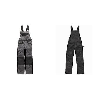 Dickies Unisex Industry 300 Two-Tone Work Bib & Brace Coveralls / Workwear (Pack of 2)