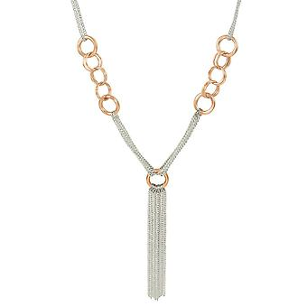 Eternal Collection Astound Two Tone Long Statement Tassel Necklace