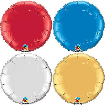 Qualatex 36 Inch Round Plain Foil Balloon