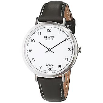 השעון של נשים קוורץ עם צג ueque אנלוגי ו-B 3590-04 רצועת עור, צבע: שחור