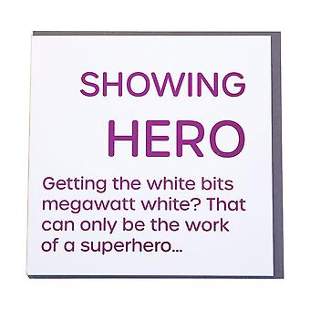 Gubblecote affichant hero Foiled Greetings Card
