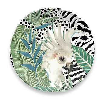 Epicurean Lush Jungle Cockatoo Side Plate