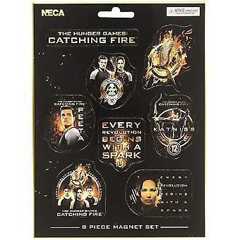 Hunger Games Catching Fire Magnets (Set Of 8)