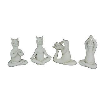 Dharma Llamas Set of 4 Zen Yoga Pose Llama Figurines
