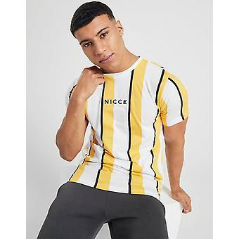 New Nicce Men's Stripe T-Shirt Orange