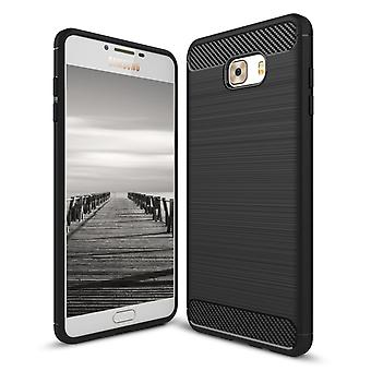 Shell para Samsung Galaxy C7 Pro Case Protection Armor Carbon Fiber Black