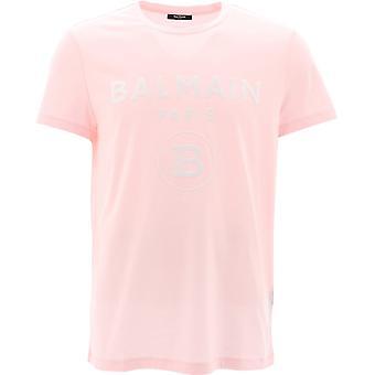 Balmain Th01601i232oaj Men's Rosa Baumwolle T-shirt