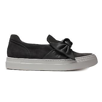 Paul Green 4489-04 harmaa Mokka nahka naisten slip on rento kengät