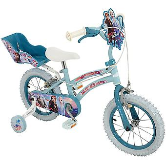 Disney frozen 2 14 inch bike mv sports with doll carrier ages 3 years+