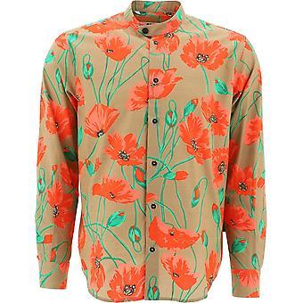 Msgm 2840me1120705223 Männer's Multicolor Baumwollhemd