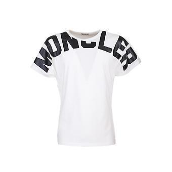 Moncler 8c70710v8094033 Women's White Cotton T-shirt