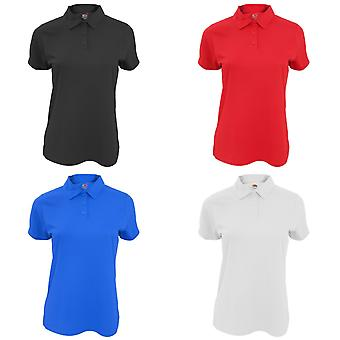 Fruit Of The Loom Womens/Ladies Moisture Wicking Lady-Fit Performance Polo Shirt