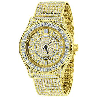 High Quality FULL ICED OUT ZIRKONIA Herren Uhr - gold