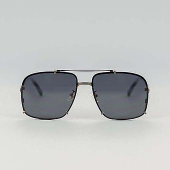 Vliegenier Jon Grijs-Zwarte Zonnebril