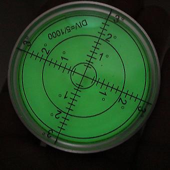 Luminous Metal Large Spirit Bubble Level 60mm Diameter, Green/Silver