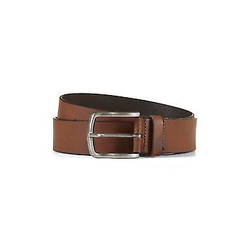 Leather belt davis brown