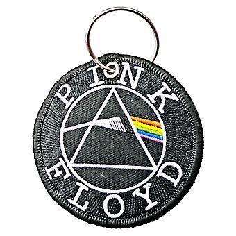 Vaaleanpunainen Floyd Avaimenperä Avaimenperä Pimeä puoli Kuu Circle Patch virallinen musta