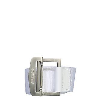 Agguato 12112171whte Uomini's Cintura di cotone bianco