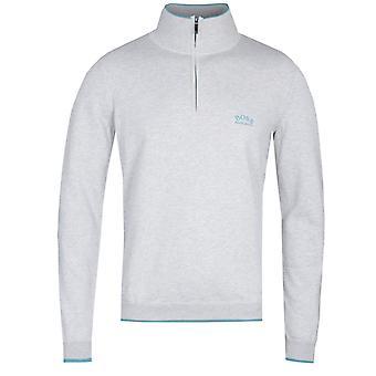 Boss Ziston Fine Knitted Grey Jumper