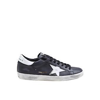 Golden Goose Gmf00101f00032180203 Herren's Schwarze Leder Sneakers