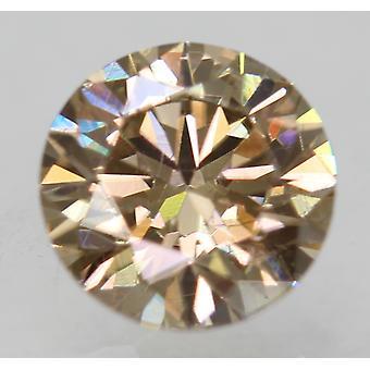 Cert 0.71 Geelbruin VVS2 Ronde Brilliant Enhanced Natural Diamond 5.67mm 3EX