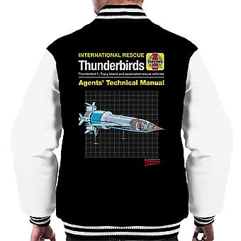 Thunderbirds Agenten Technisches Handbuch Thunderbird 1 Men's Varsity Jacke