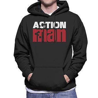 Action Man Logo Bullet Hole Men's Hooded Sweatshirt