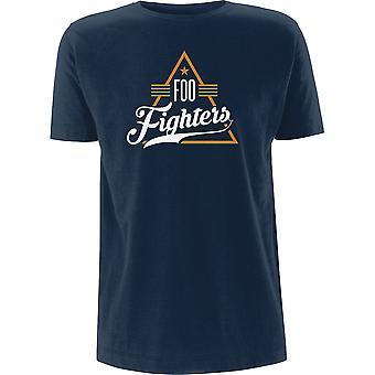 Blå Foo Fighters Triangle Offisiell Tee T-skjorte Mens Unisex