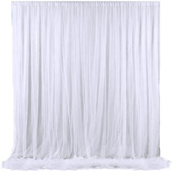 Two Layers Tulle Backdrop Curtain For Wedding Photography Background Party Xmas
