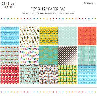 Yksinkertaisesti Creative 12x12 tuuman Paper Pad Fiesta Hauskaa