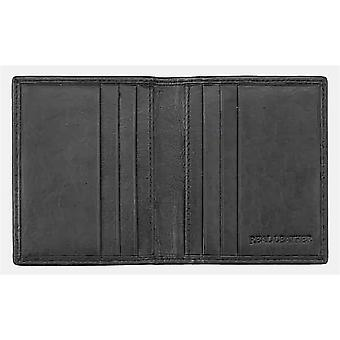 Primehide Carbon Fibre And Leather Mens Wallet Secure RFID Blocking 9200 - Black
