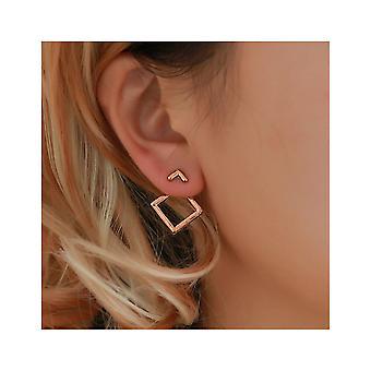 Rose Gold Geometric Stud Earrings