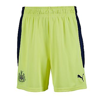 Puma Kids Newcastle United Auswärts Shorts 2020 2021 Drawstring Bottoms dryCELL